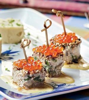 Atum ao molho de mostarda dijon e wasabi  (Foto:  )