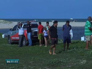 Adolescente de 16 anos morre afogado na Lagoa do Tabuba, no CE (Foto: Reprodução/TV Verdes Mares)