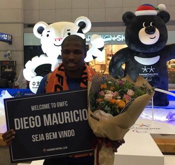 Diego Maurício Gangwon FC (Foto: Divulgação)