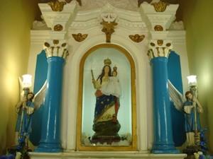 Imagem de Nossa Senhora da Penha acompanha romeiros (Foto: Eisenhower Almeida/Pascom)