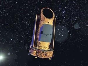 Ilustração mostra o telescópio espacial Kepler (Foto: Nasa)