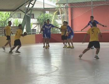 Campeonato Acreano de Handebol no Diogo Feijó (Foto: Reprodução/TV Acre)