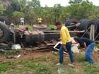 Duas pessoas morrem após caminhão capotar na TO-336