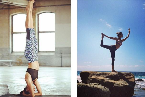 Alessandra Ambrosio é viciada em Ioga. Olha só que concentração... Pra poucos, né? (Foto: Reprodução / Instagram)