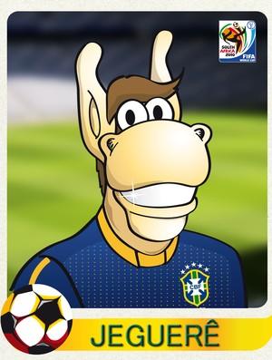 Mascote do bloco Jeguerê ganhou camiseta da Seleção em homangem a Dida em 2010 (Foto: Reprodução)