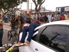 Acidente deixa passageira de moto ferida na av. João Paulo II, em Belém