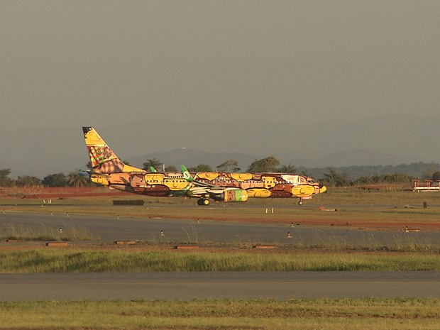 Aeronave decolou de Belo Horizonte com destino a São Paulo. (Foto: Reprodução/TV Globo)