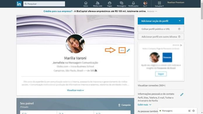 É possível baixar o conteúdo sempre que acrescentar novas informações ao perfil (Foto: Reprodução/Marília Varoni)
