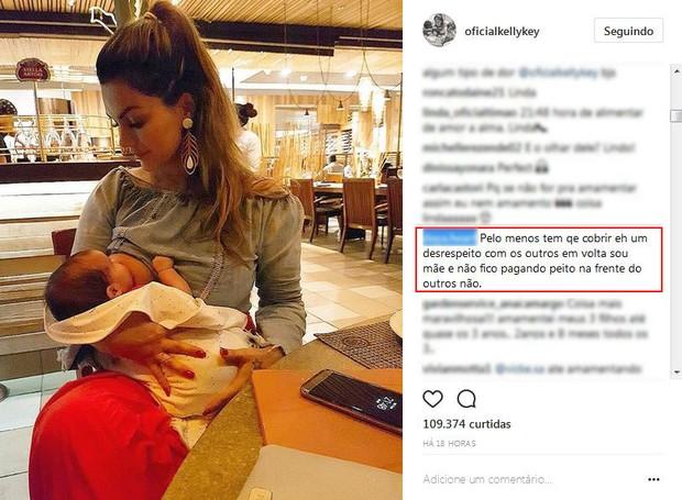 Comentário no post de Kelly Key (Foto: Reprodução/Instagram)