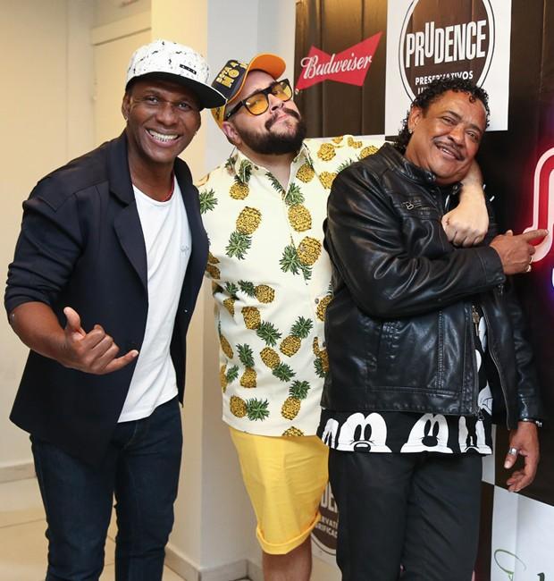 Beto Jamaica, Tiago Abravanel e Cumpadi Washington (Foto: Manuela Scarpa/Brazil News)