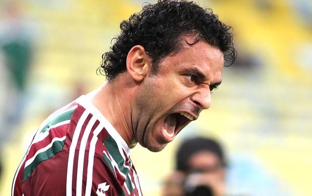 Fred comemora gol Fluminense e Cruzeiro (Foto: Ricardo Ayres / Photocamera)
