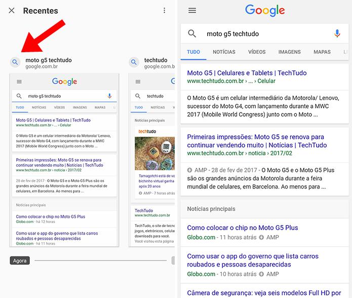 Visualize últimos sites e pesquisas (Foto: Reprodução/Paulo Alves)
