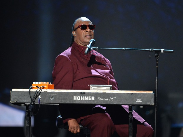 Stevie Wonder em evento em homenagem aos Beatles em Los Angeles, nos Estados Unidos (Foto: Kevin Winter/ Getty Images/ AFP)