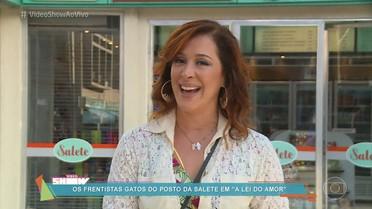 Cláudia Raia mostra bastidores de gravação em A Lei do Amor