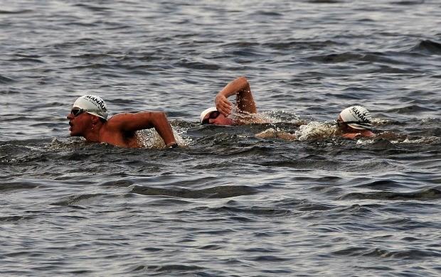Maratona aquática, em Manaus (Foto: Antônio Lima/Semdej)