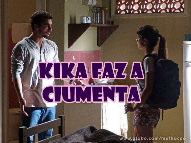KKKKKKK E a crise de ciumeira da Kikinha!!! (Foto: Malhação / Tv Globo)