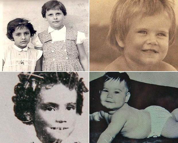 Analise bem cada fotografia e tente descobrir qual é o famoso na infância (Foto: Mais Você / TV Globo)