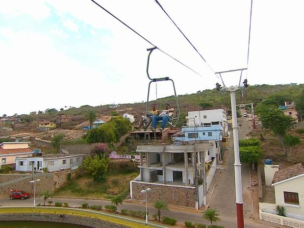 Teleférico de Triunfo, no Sertão de Pernambuco (Foto: Reprodução/TV Globo)