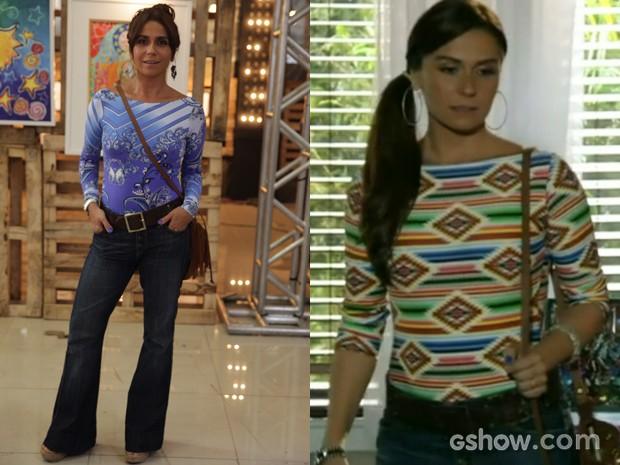 Clara usa os bodys com muito charme em suas produções (Foto: Pedro Curi;Em Família/TVGlobo)
