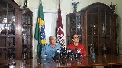 Coletiva Eduardo Bandeira de Mello e Pedro Abad Flamengo e Fluminense (Foto: Hector Werlang)