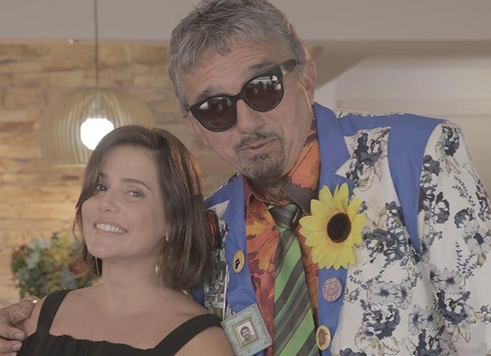 Falcão se divertiu com Deborah Secco (Foto: Guilherme Jacobs/Gshow)