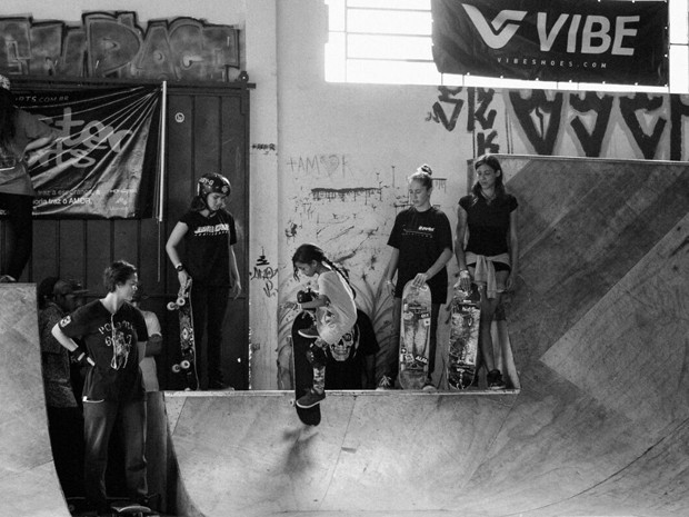 Fadinha skatista Rayssa Leal, 7, foi campeã catarinense de skate street mirim (Foto: Danilo Cunha Selau Ferreira)