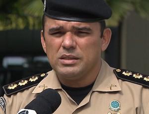 Coronel Jefferson, comandante do policiamento metropolitano de João Pessoa (Foto: Reprodução / TV Cabo Branco)