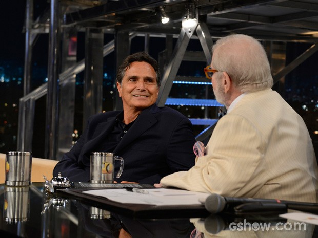 Nelson Piquet participa do Programa do Jô desta sexta-feira (Foto: TV Globo/Programa do Jô)