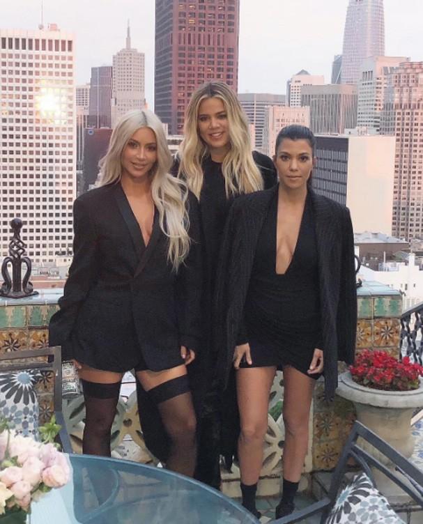 Kim, Khloe e Kourtney Kardashian (Foto: Reprodução Instagram)
