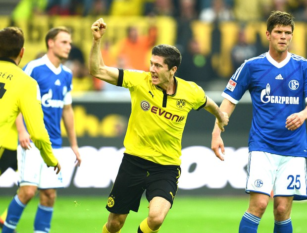 Lewandowski, Borussia e Schalke 04 (Foto: Agência AFP)
