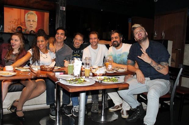 Ex-BBBs assistem a final (Foto: Divulgação )
