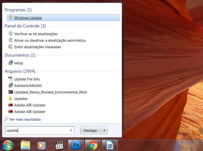 Acesse o Windows Update (Foto: Reprodução/Filipe Garrett)