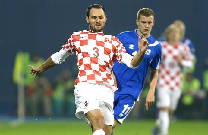 Josip Simunic jogo Croácia (Foto: AP)