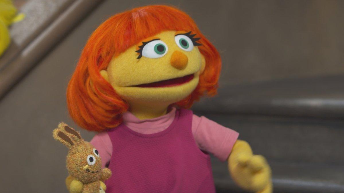 Julia, a nova personagem de 'Vila Sésamo' (Foto: divulgação)