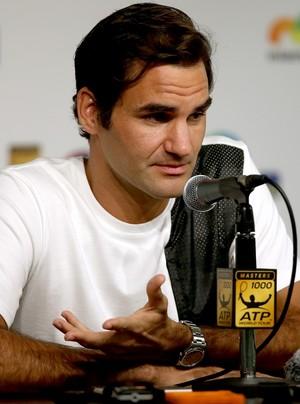 Roger Federer coletiva de imprensa em Miami (Foto: Getty Images)
