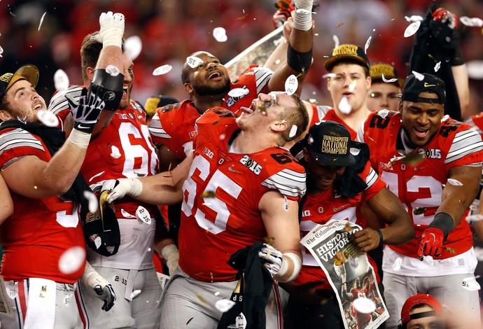 8b1eb6aa9 Time do Ohio State vence o torneio nacional de futebol americano  universitário (Foto  Christian
