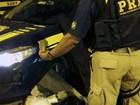 Passageiro de ônibus é flagrado com droga em blitz da PRF na Fernão Dias