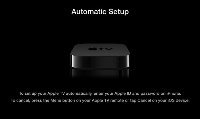 Instalação da Apple TV é simples e rápida (Foto: Reprodução/Apple)