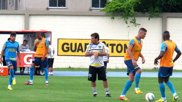 jogadores no treino do Botafogo (Foto: Fred Huber)
