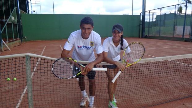 Thiago Monteiro e irmã (Foto: Juscelino Filho)