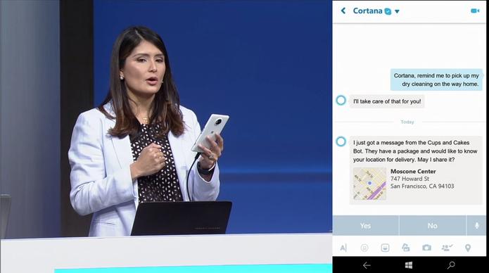 Cortana terá integração profunda com Skype e robôs Bots da Microsoft (Foto: Reprodução/Microsoft)