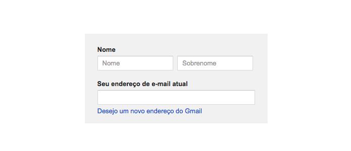 Crie conta no Google sem Gmail (Foto: Reprodução/Paulo Alves)