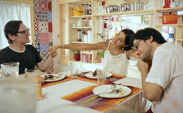 Bela Gil Paulo Miklos Lcio Mauro Filho Detox Bela Cozinha Vero (Foto: Divulgao/GNT)