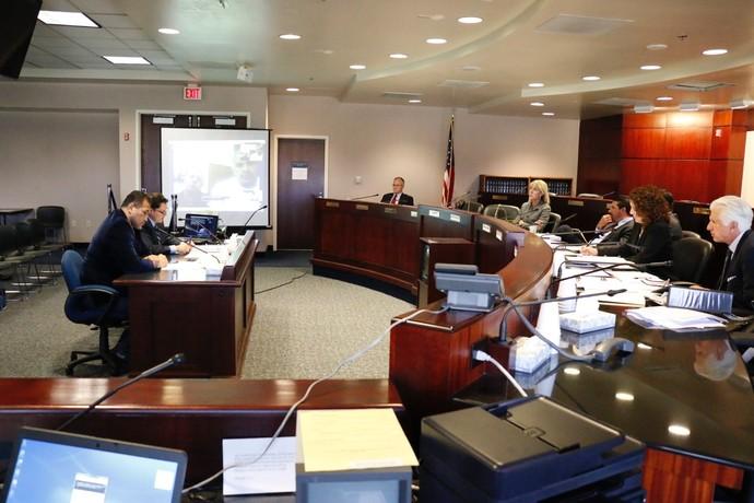 Audiência de Rousimar Toquinho na Comissão Atlética de Nevada NAC (Foto: Evelyn Rodrigues)