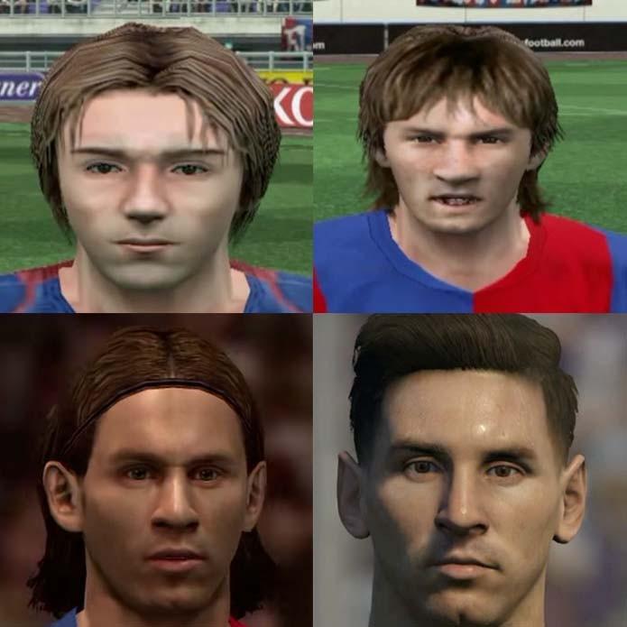 Messi ganhou detalhes com a evolução de PES (Foto: Reprodução/Murilo Molina)