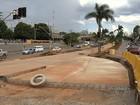 Acesso à Marginal Botafogo na Goiás Norte é fechado para obras do BRT