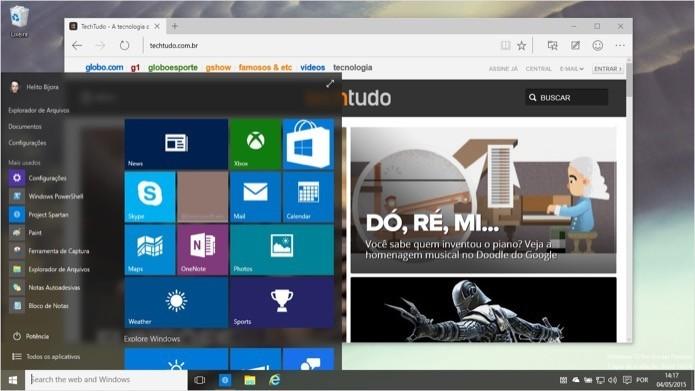 Microsoft pode remunerar quem encontrar brechas de segurança graves no Windows 10 (Foto: Reprodução/Helito Bijora)
