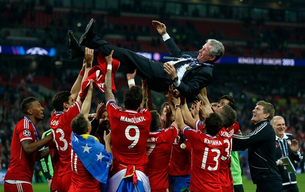 Jupp Heynckes  Bayern de Munique campeão (Foto: Reuters)