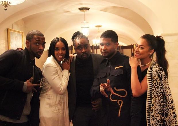 Jay Pharoah, Kelly Rowland, Wale, Usher e LaLa (Foto: Reprodução)