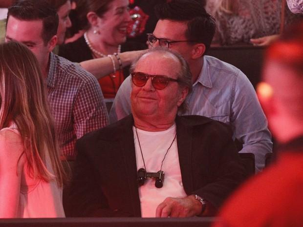 Ator Jack Nicholson assiste ao show dos Rolling Stones em Los Angeles (Foto: Mario Anzuoni/Reuters)